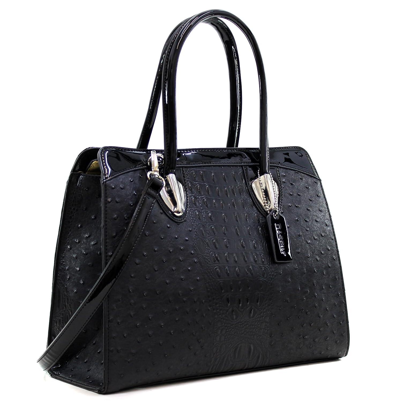 bc85efc8c479 Dasein Women s Top Zip Double Handle Structured Work Tote Satchel Handbags  Shoulder Bag Purse