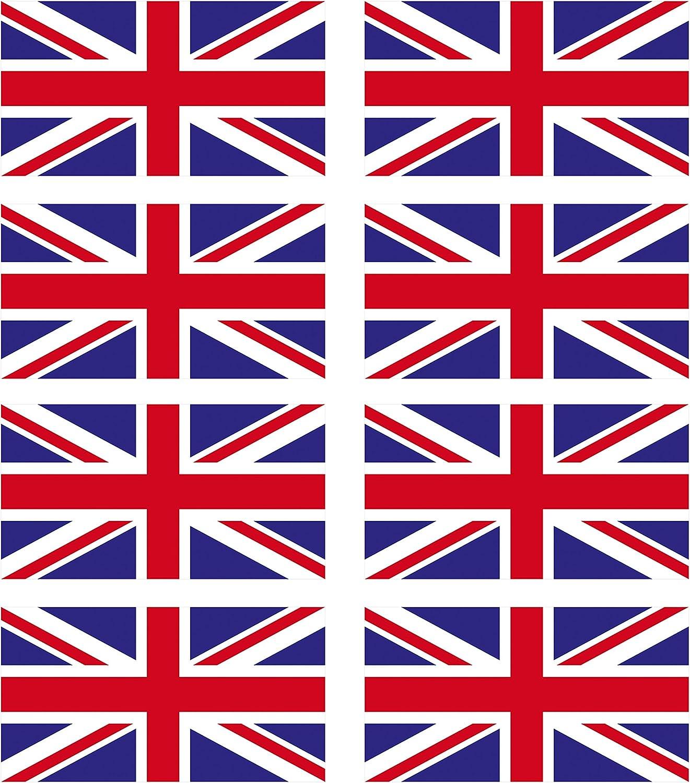 8/x Autocollants vinyle brillant/?/Petit drapeau drapeaux Union Jack pour casque de moto//v/élo//# 0064-1cm tall x 1.84cm wide