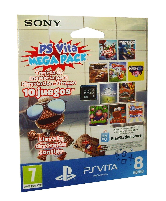 PlayStation Vita - Tarjeta De Memoria 8 GB + Mega Pack ...