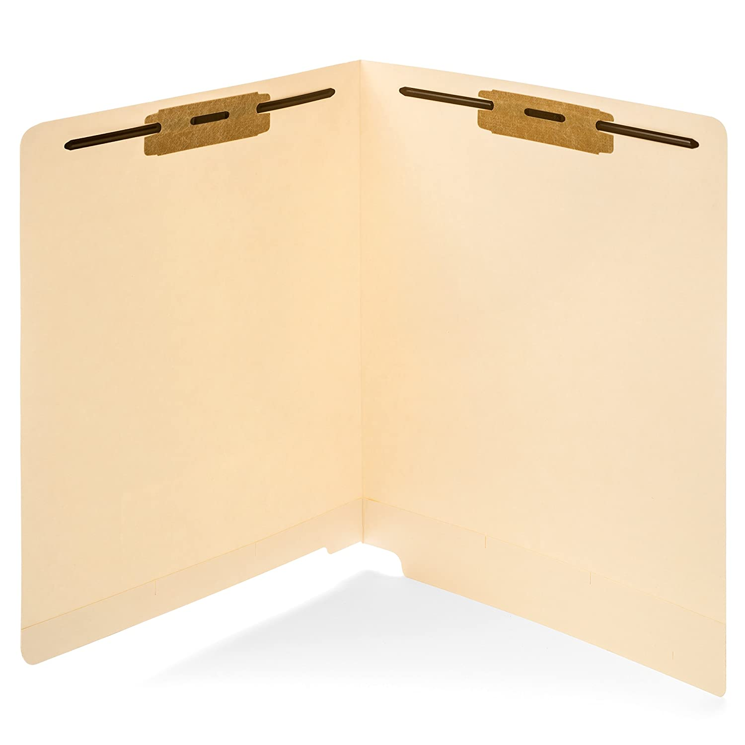 50 End Tab Fastener File Folders- Reinforced Straight Cut tab- Designed to Organize Standard Medical Files and Office documents– Letter Size, Manila, 50 Pack