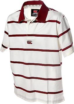 Camiseta de Rugby Canterbury Polo de rayas, blanco y rojo: Amazon.es: Deportes y aire libre