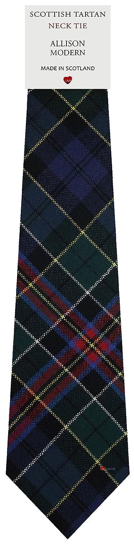 Mens Tie All Wool Made in Scotland Allison Modern Tartan