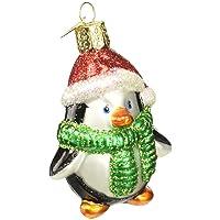 Image of Festive Glass Penguin Christmas Ornament