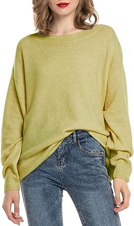 Woolen Bloom Jersey Punto Mujer Invierno Jersey Rayas Camiseta Manga Larga Sueter Basico Suelto Jerseys Camisa Tops Pull-Over Suéter Mujer Primavera Otoño: Amazon.es: Ropa y accesorios