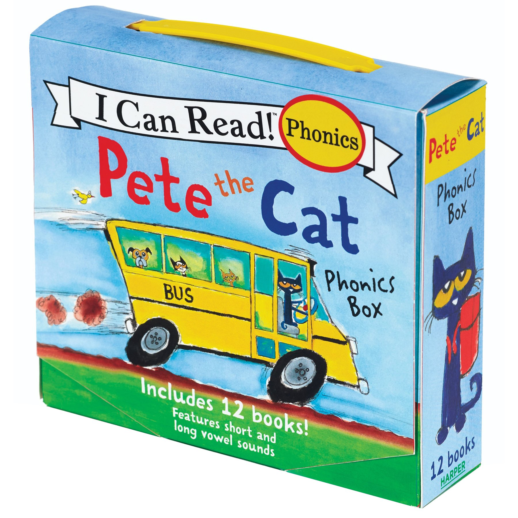 Includes 12 Mini-Books Featuring Short and Long Vowel Sounds Pete the Cat Phonics Box