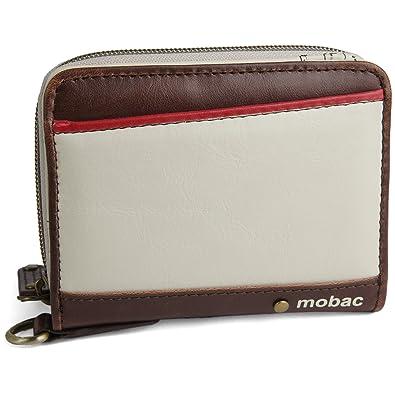 d578434095a1 [モバック] mobac 二つ折り財布 ラウンドファスナー ジャバラ ツートンカラー アコーディオン (ホワイト)