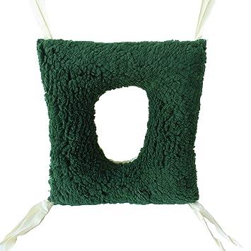 Cojín antiescaras de doble cara | Forma: cuadrado con agujero | Dimensiones: 44 x 40 x 12 cm | Previene las úlceras por presión