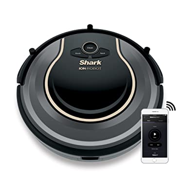 SHARK ION Robot Vacuum R75 WiFi-Connected, Voice Control Dual-Action Robotic Vacuum Carpet and Hard Floor Cleaner, Works with Alexa (RV750)