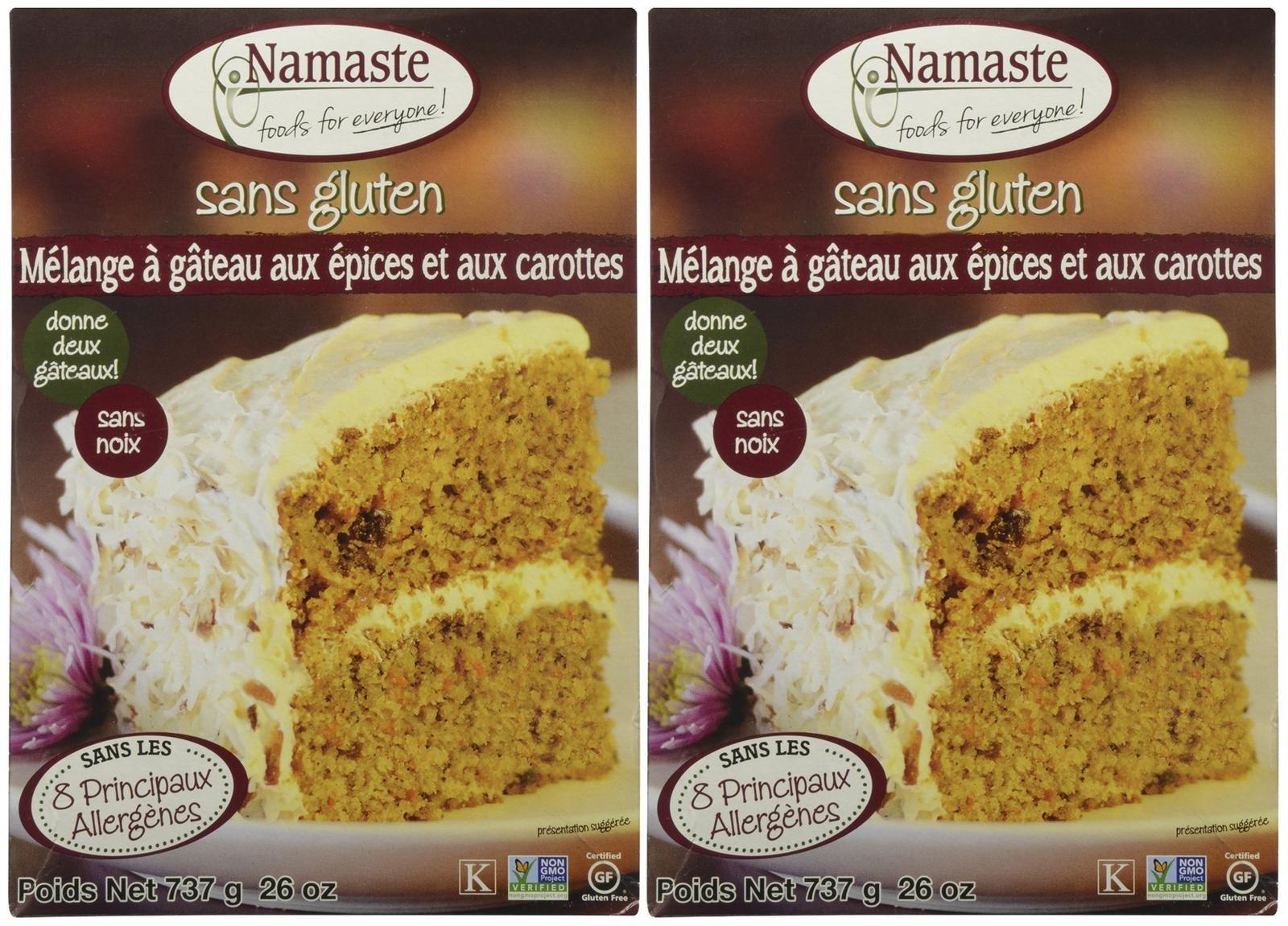 Namaste Foods Spice Cake Mix, 26 oz, 2 pk