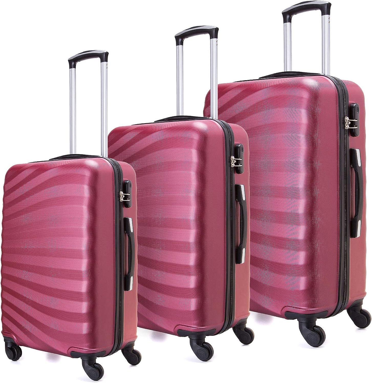 Juego de maletas livianas con cáscara dura de 3 piezas (20