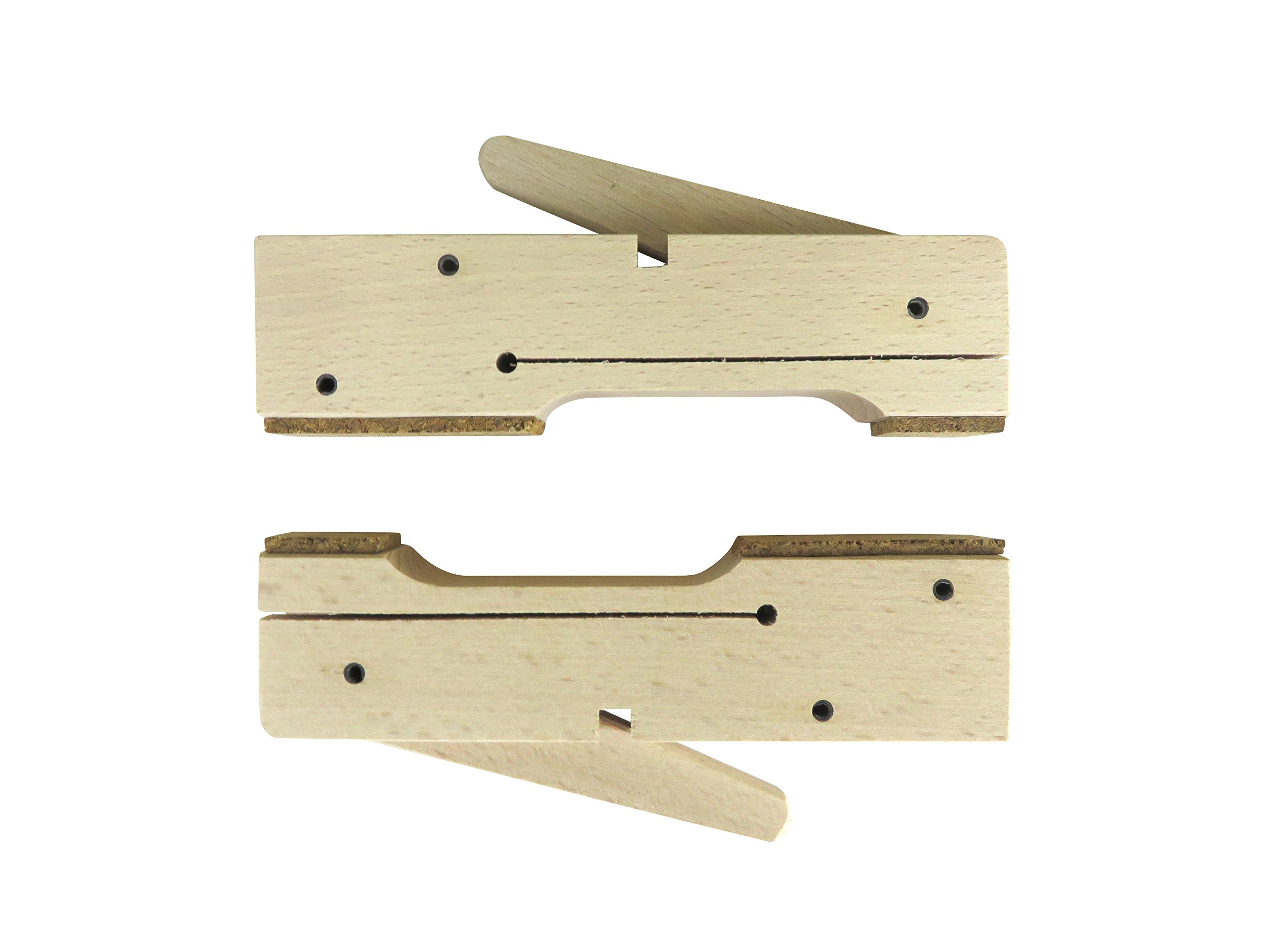 "2 each Pair Taytools 30-1 Wooden Wood Cam Action Edge Clamps 6"" long x 1'' thick x 1-3/8'' wide European Beech"