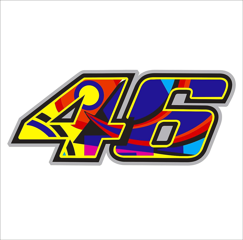 Aufkleber Aufkleber Valentino Rossi 46 Reflektierende Hochwertig 15 2 Cm X 6 3 Cm 1 Stück Auto