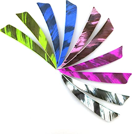 """NEW Pink Turkey Feathers Archery Carbon Wood Arrows Feathers Fletching 4/"""" Shield"""