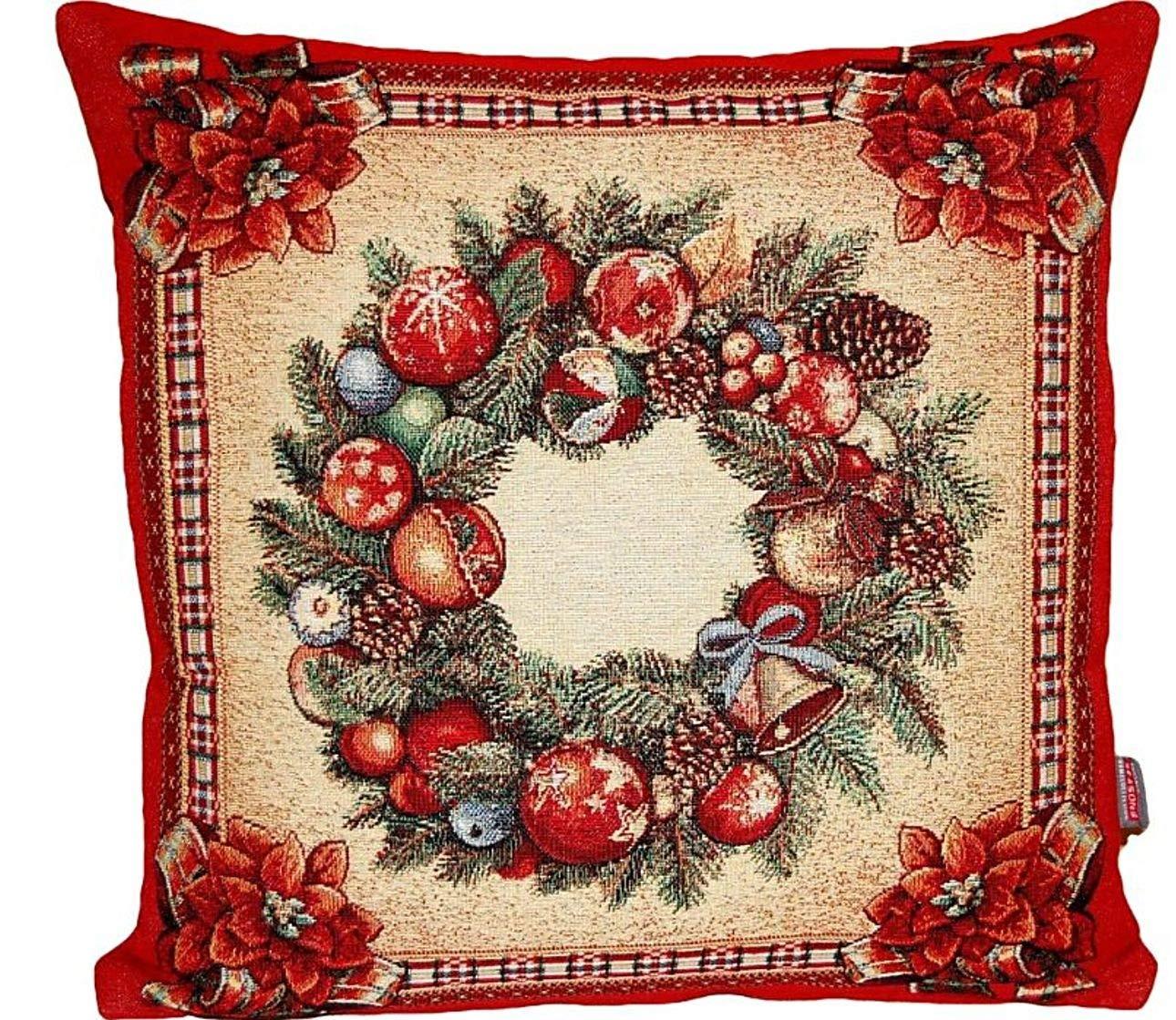 Edle Tischdecke Eckig GOBELIN Weihnachten Nostalgie Rot Landhaus Decke Weihnachtsdecke Weihnachtsdecke Weihnachtsdecke (Mitteldecke 100x100 cm) B01MQL2YF0 Zierkissenbezüge fd82cf