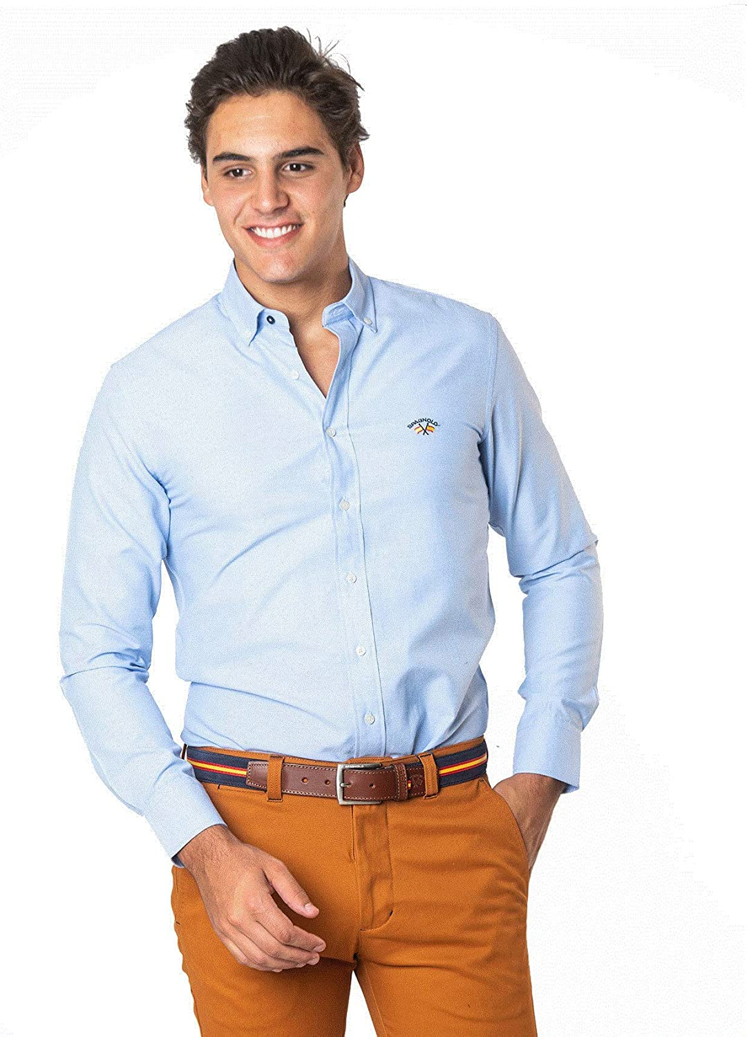 SPAGNOLO PAUL & ESTHER Camisa con Boton Basica Oxford 8068 (6/XXL): Amazon.es: Ropa y accesorios