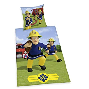 Herding Bettwäsche Feuerwehrmann Sam Kopfkissenbezug Ca 80x80cm