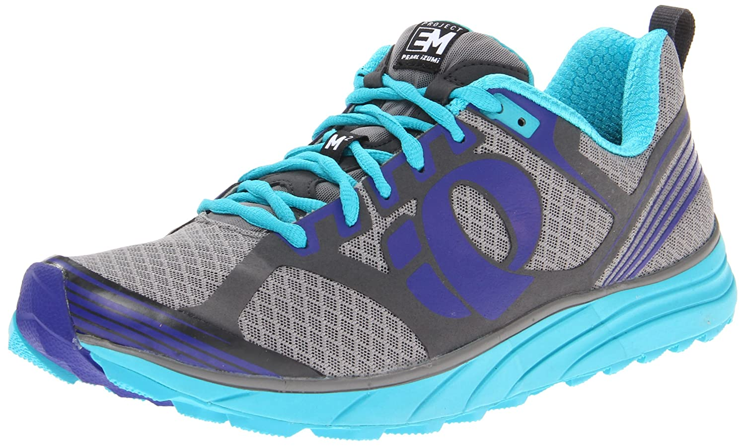 Pearl iZUMi Women's W EM Trail M 2 Running Shoe B008OR9MQ4 6 B(M) US|Scuba Blue/Shadow Grey