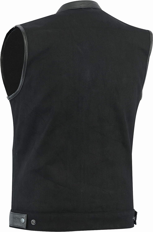 HIGHWAY LEATHER SOA Club Denim Black Motorcycle Vest