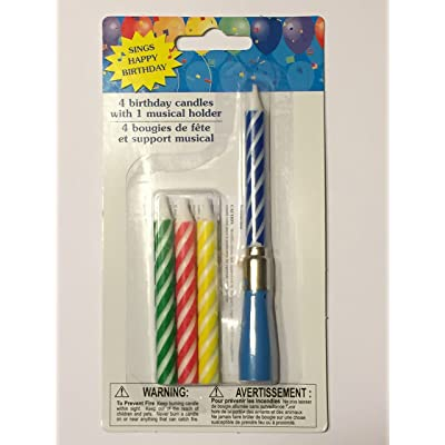 Musical Birthday Candles - Sings Happy Birthday - Blue: Home & Kitchen