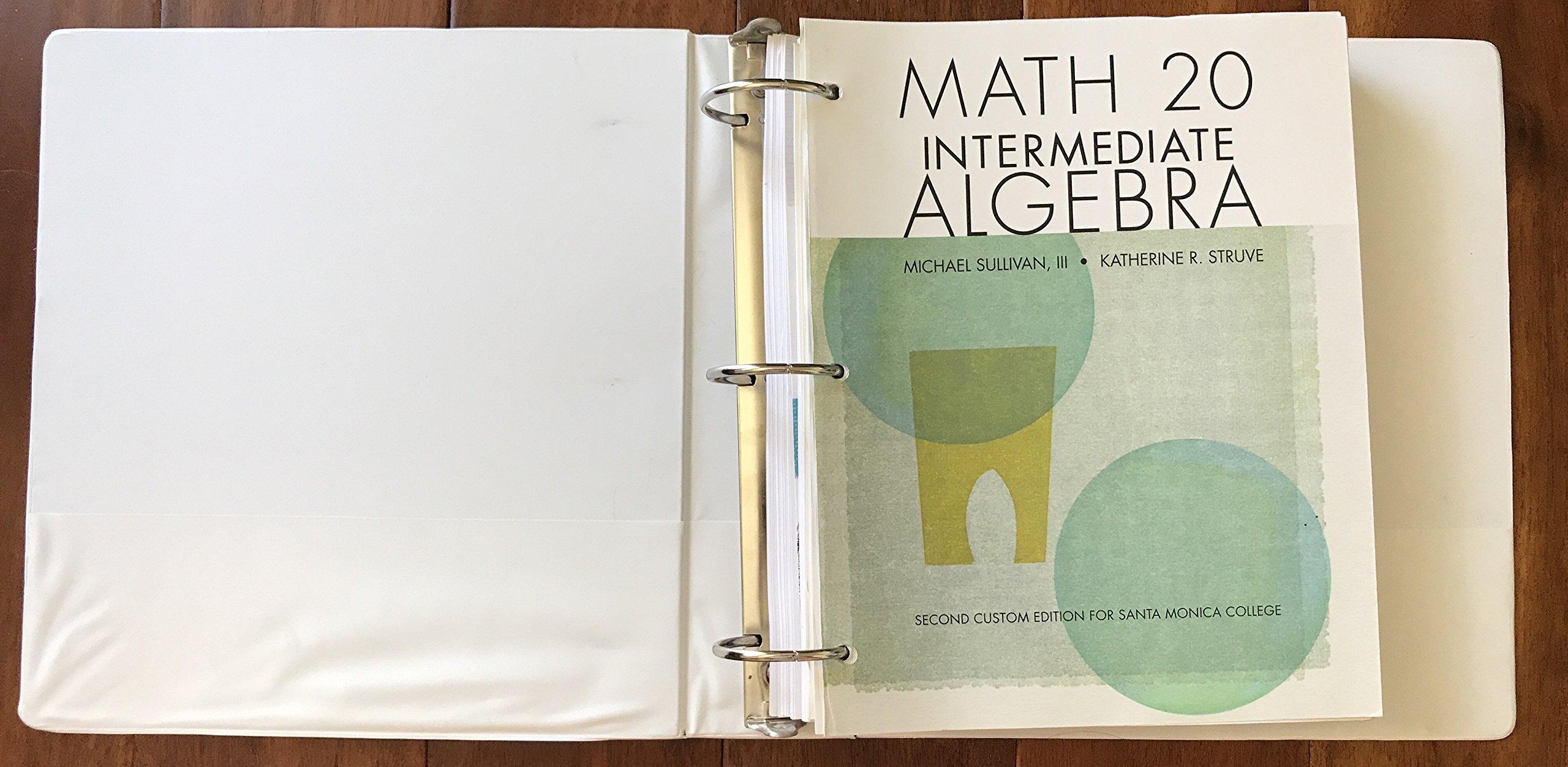 Santa Monica College Custom Math 20 Intermediate Algebra Text PDF