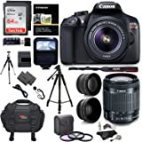 "Canon EOS Rebel T6 Digital SLR Camera Kit + EF-S 18-55mm f/3.5-5.6 IS II Lens + Pro .58x & 2.2x Lenses + Sandisk 64GB Memory + 57"" Tripod + Ritz Gear Case + Polaroid Accessory Bundle"