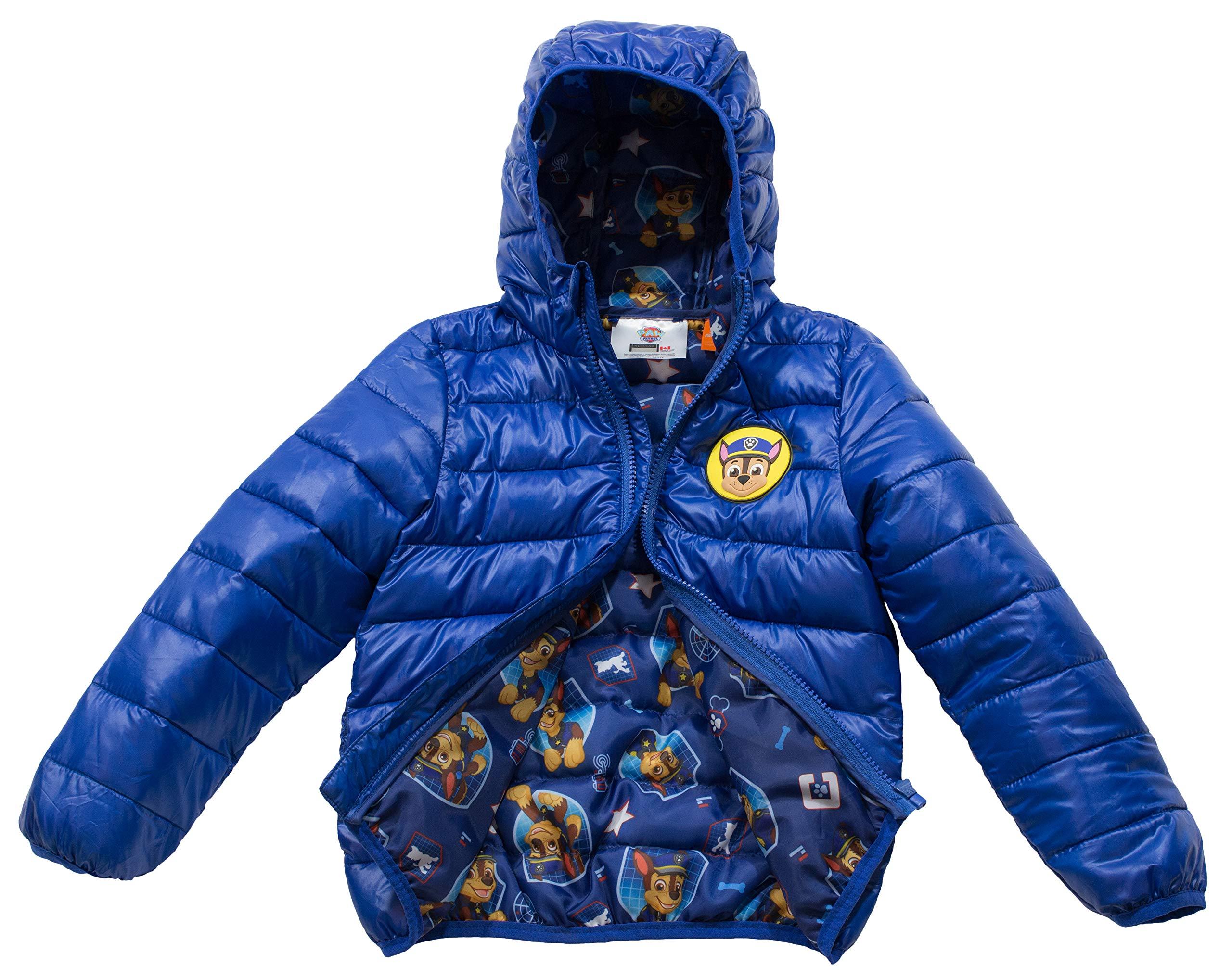 The Arctic Squad Paw Patrol Boys Toddlers Ultralight Dark Blue Jacket (4T, Blue)