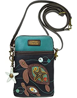 Chala Red Guitar Brown Cell Phone Crossbody Bag Small Convertible Purse New