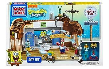 Mega Bloks 94613 Jeu De Construction Bob L éponge Affrontement Au Crabe Croustillant 300 Pièces