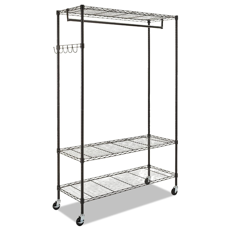 Amazon.com: Alera Wire Shelving Garment Rack (Black): Kitchen & Dining