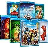 Pack Mejores Clásicos Disney (Zootrópolis + Frozen + Big Hero 6 + El Rey León + El De La Selva + Peter Pan + Tarzán)