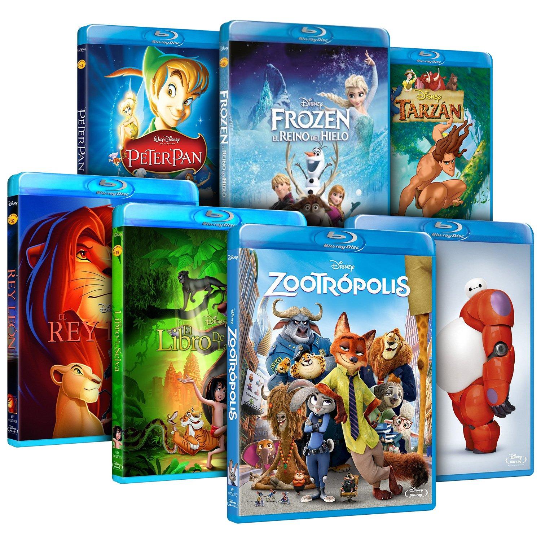 Pack Mejores Clásicos Disney Zootrópolis + Frozen + Big Hero 6 + El Rey León + El Libro De La Selva + Peter Pan + Tarzán Blu-ray: Amazon.es: Cine y Series TV