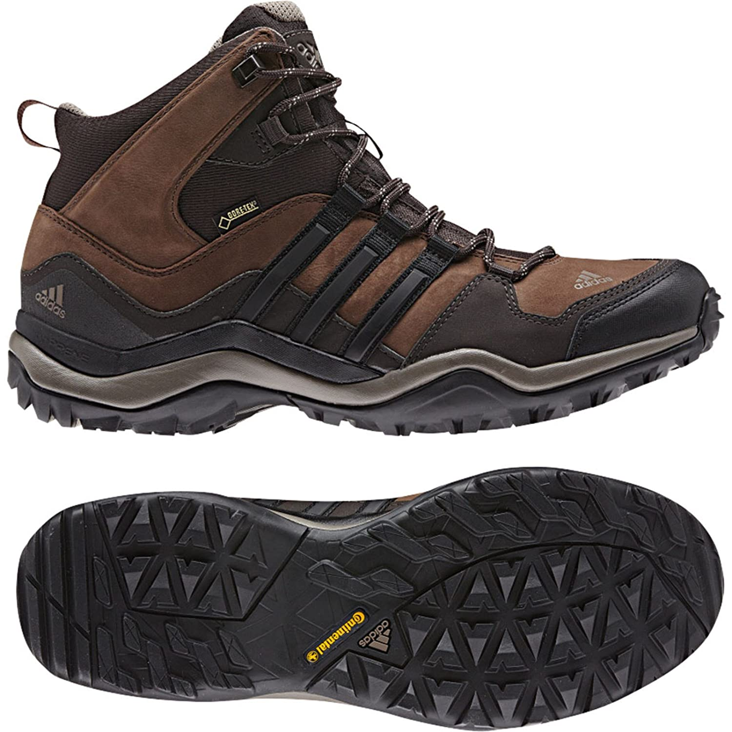 Adidas Kumacross Mid GTX Leather Boot - Men's Espresso / Black / Dark Brown 9