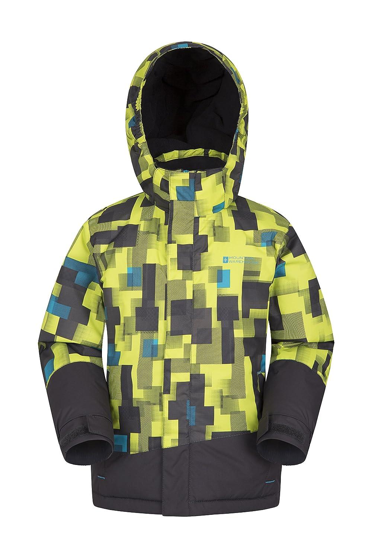 Mountain Warehouse Slope Kids Printed Ski Jacket - Warm Winter Coat Lime 2-3 Years 025371031004
