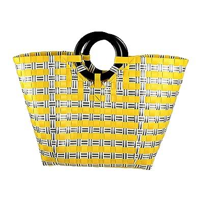 Amazon.com: Plástico Bolsa de tela, hecho a mano Bolsa de ...