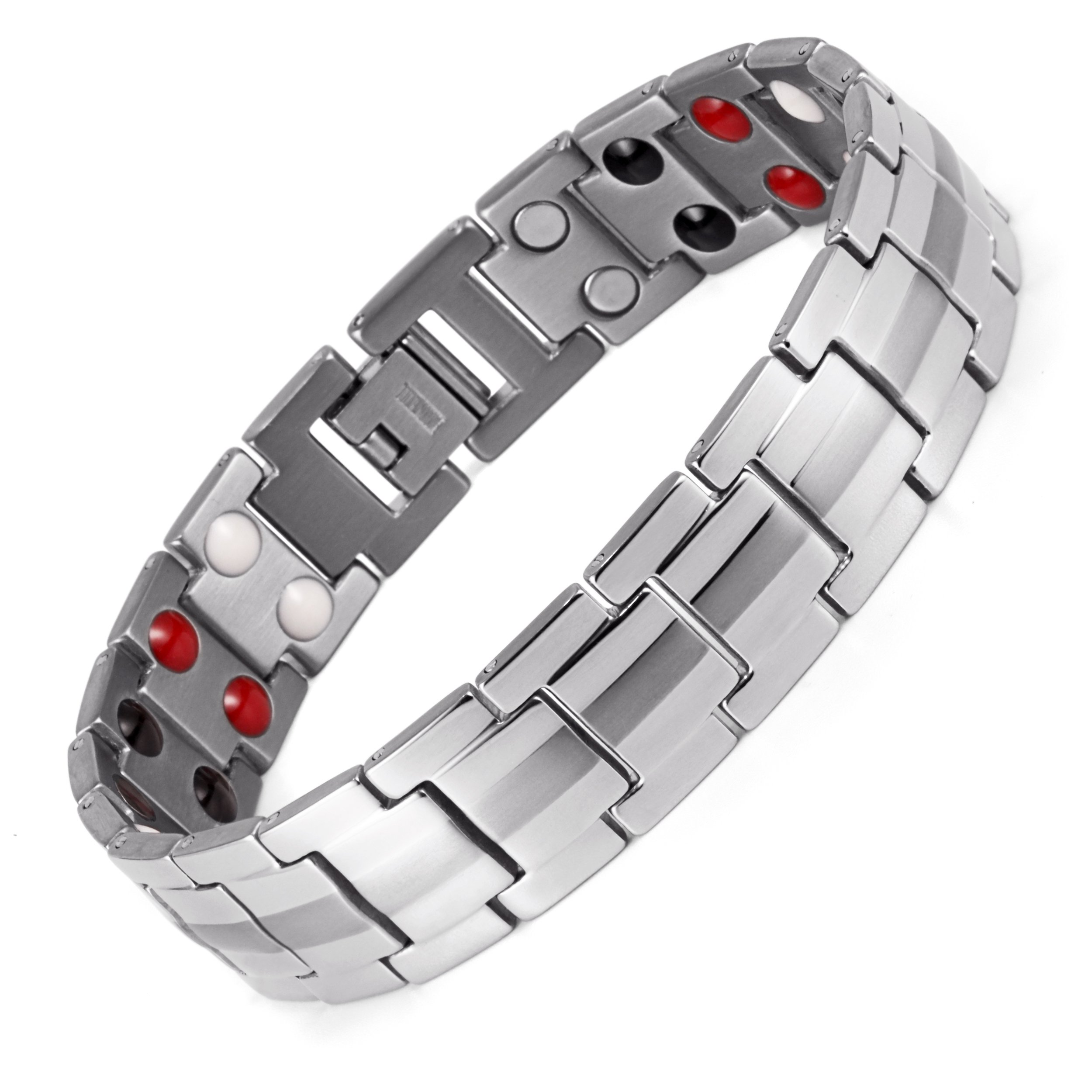 Lifestyle Titanium Magnetic Therapy Bracelet Pain Relief for Arthritis and Carpal Tunnel magnets as health care element are embedded in each bracelet. (Titanium Double Magnets)