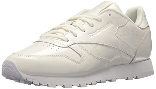 747f1bdfcb74 Reebok Women s Cl Lthr Patent Walking Shoe White 5.5 ...
