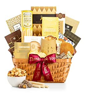 GiftTree Thank You As Good As Gold Gift Basket | Includes Almond Roca, Caramel Toffee Popcorn, Peanut Brittle & More | A Great Gift To Say Thank You To Clients, Friends and Business