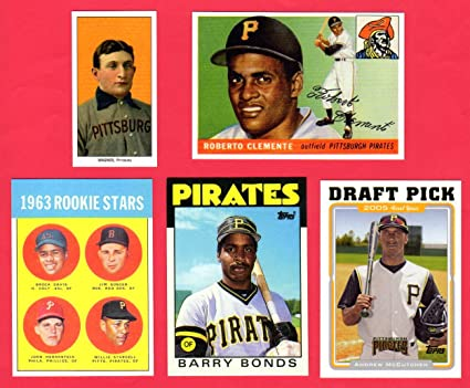 Pittsburgh Pirates 5 Card Topps Rookie Reprint Lot 1