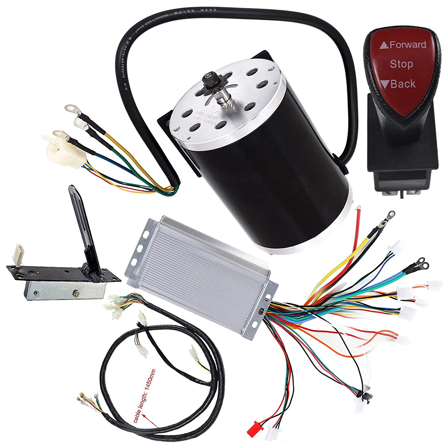 WPHMOTO High Sd 48V DC 1800W Brushless Electric Motor & Controller on