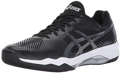 9a1bb74834f ASICS Womens Volley Elite FF Volleyball Shoe Black Dark Grey White 6 Medium  US