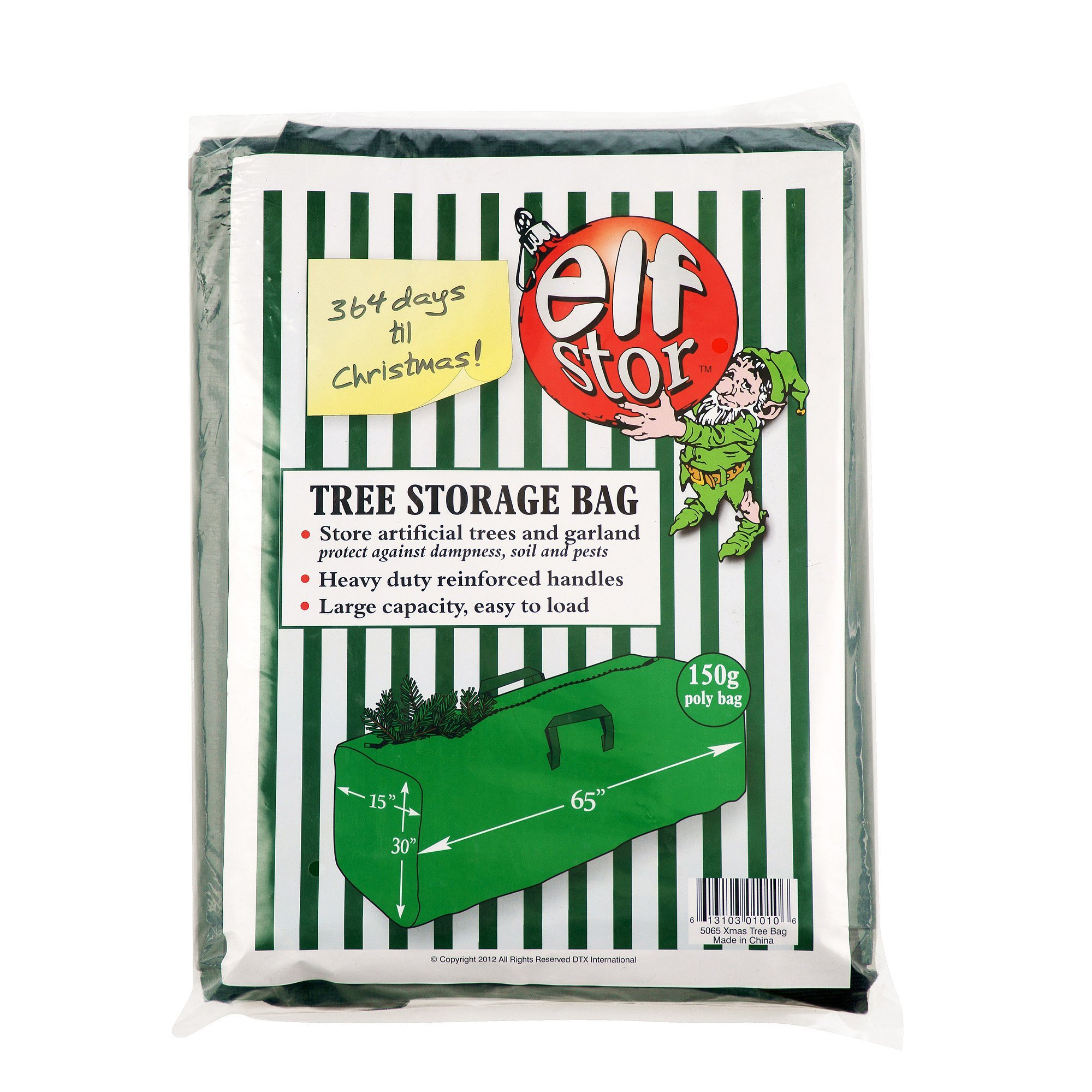 Elf Stor Premium Green Christmas Tree Bag Holiday Extra Large for up to 9' Tree Storage by Elf Stor (Image #6)