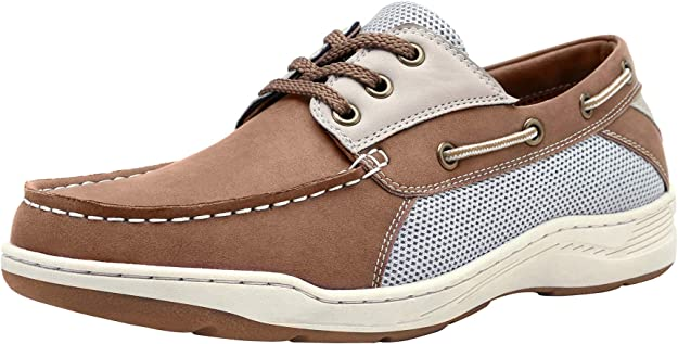 CAMEL CROWN Mens Loafers Casual Slip On Shoes Leather Boat Shoes for Walking Business Driving