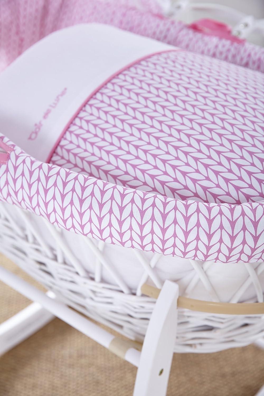 Clair de Lune sábanas para cestas de Moisés-Paquete de 2 Blanco