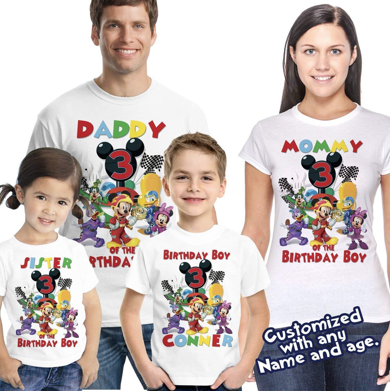 Amazon Mickey Roadster Racers Birthday Shirt Shirt