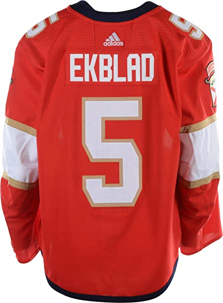 the best attitude 881a6 f67bf Aaron Ekblad Florida Panthers Game-Used #5 Red Jersey from ...