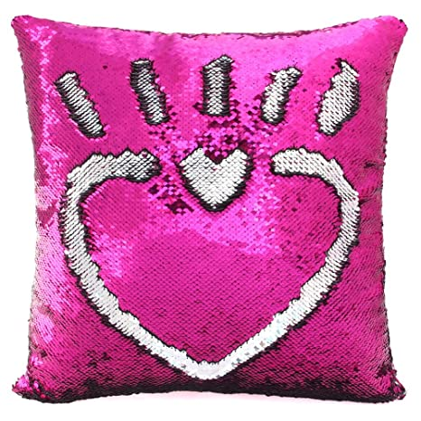 Mermaid Pillow Insert Magic Reversible Flip Sequin Color Changing Throw Home NEW