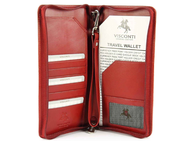 Visconti Large RFID Blocking Leather Travel Wallet for Passports ... 10157bafaa95c