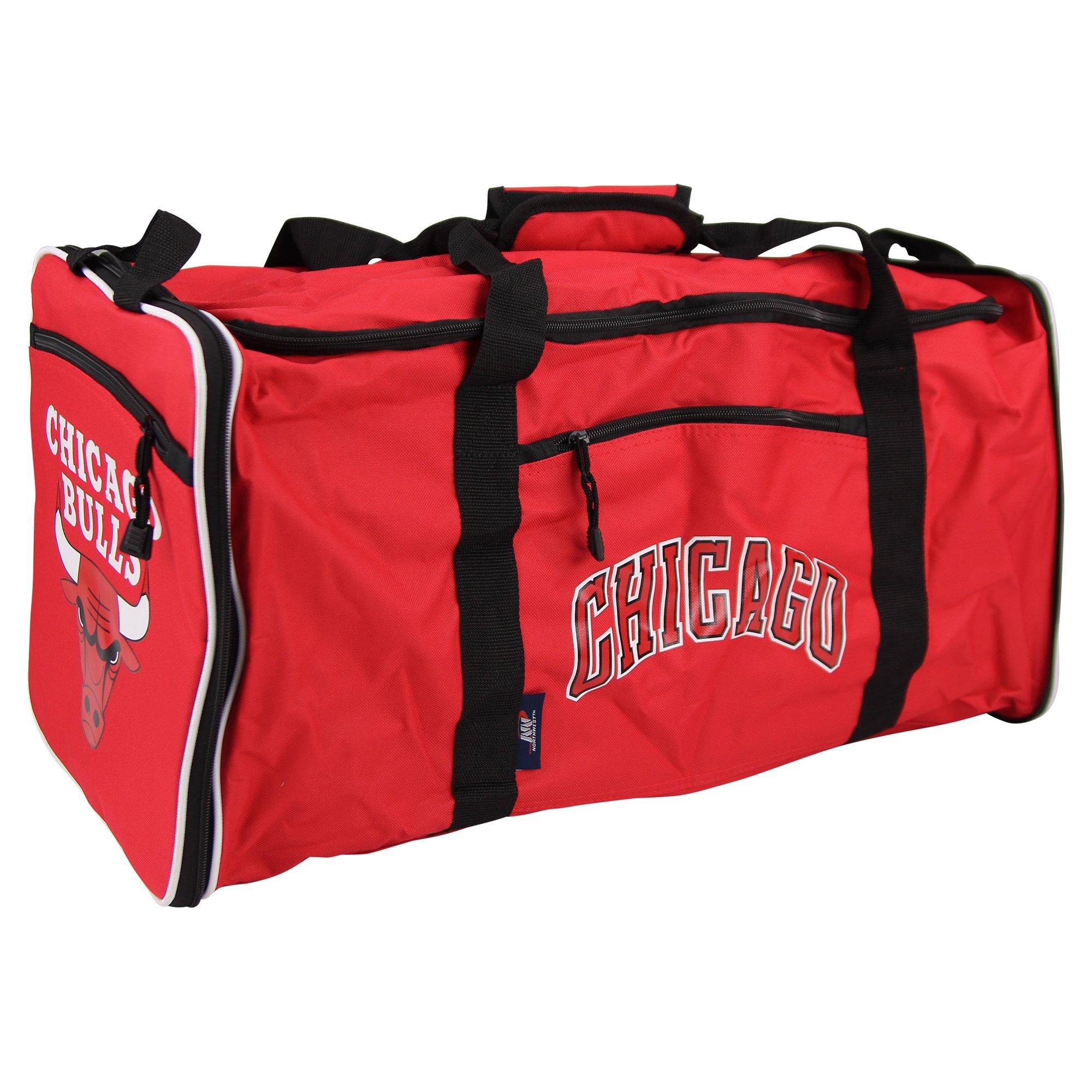 The Northwest Company NBA Team Logo Extended Duffle Bag (Chicago Bulls)