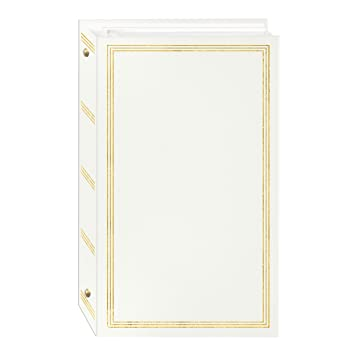 Amazoncom 3 Ring Photo Album 300 Pockets Hold 4x6 Photos White