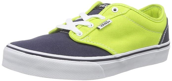 Vans Atwood Unisex-Kinder Sneakers Blau Gelb (Lime/Blue)